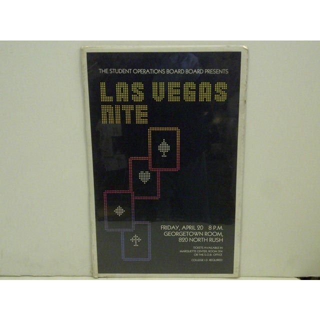 "This is a Vintage Concert Poster -- ""Las Vegas Nite"" -- April 20, 1980 -- Marquette Center -- The Poster is Shrink-Wrapped..."