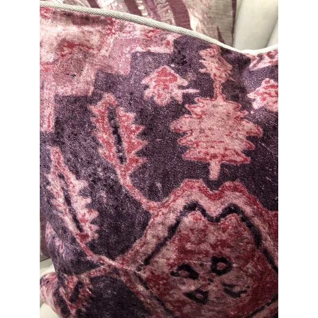 Textile Hollywood Regency Classic Home Vera Wine Pillow For Sale - Image 7 of 8