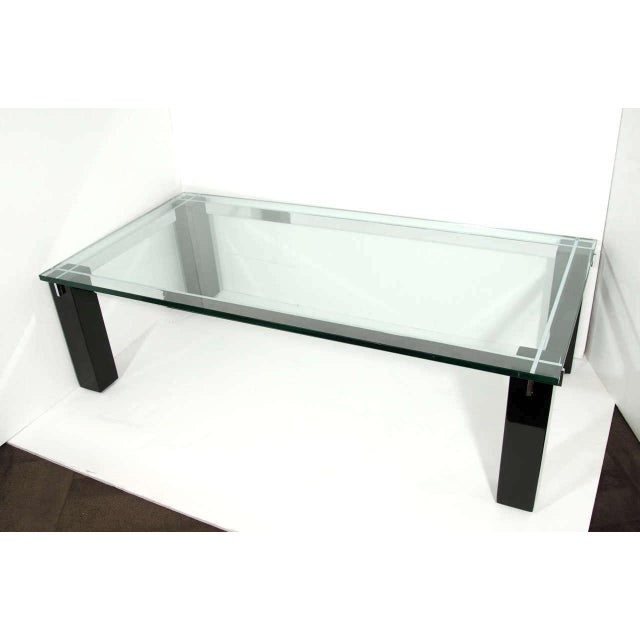 Hollywood Regency Crespi Italian Mid-Century Modern Architectural Coffee Table For Sale - Image 3 of 11