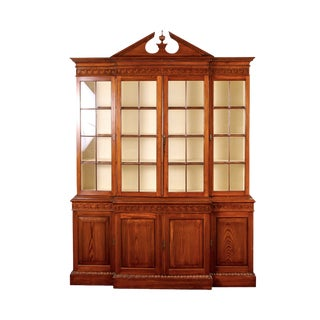 Custom English Georgian Style Sugar Pine Cabinet/Breakfront For Sale