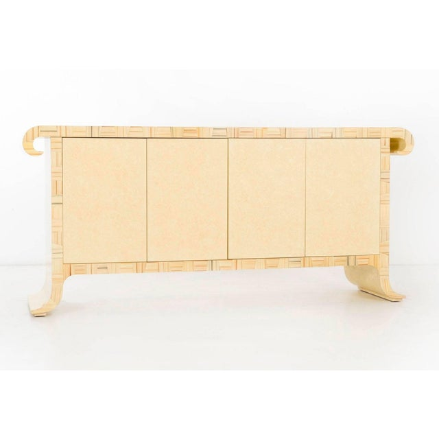 Mid-Century Modern 1980's Credenza by Alessandro Gambrelli for Baker For Sale - Image 3 of 11