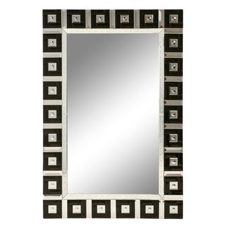 Large Mirror with Black Squares For Sale