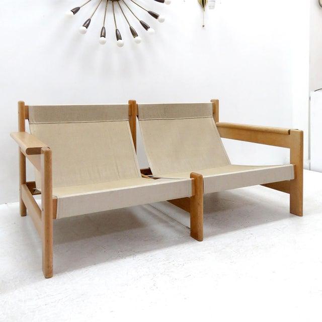 1970's Vintage Bernt Petersen Loveseat Sofa For Sale - Image 9 of 12
