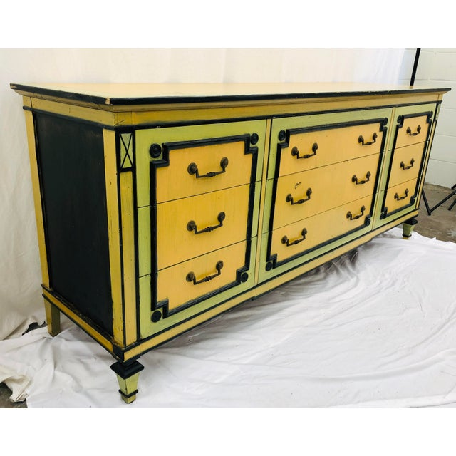 Mid 20th Century Vintage Painted Credenza Dresser For Sale - Image 5 of 12