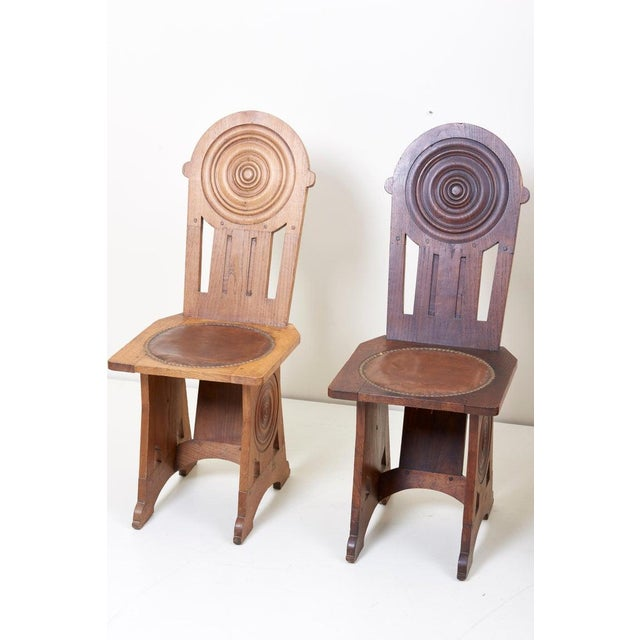 Art Deco Set of Four Avantgarde Art Deco Chairs, France 1930s For Sale - Image 3 of 13
