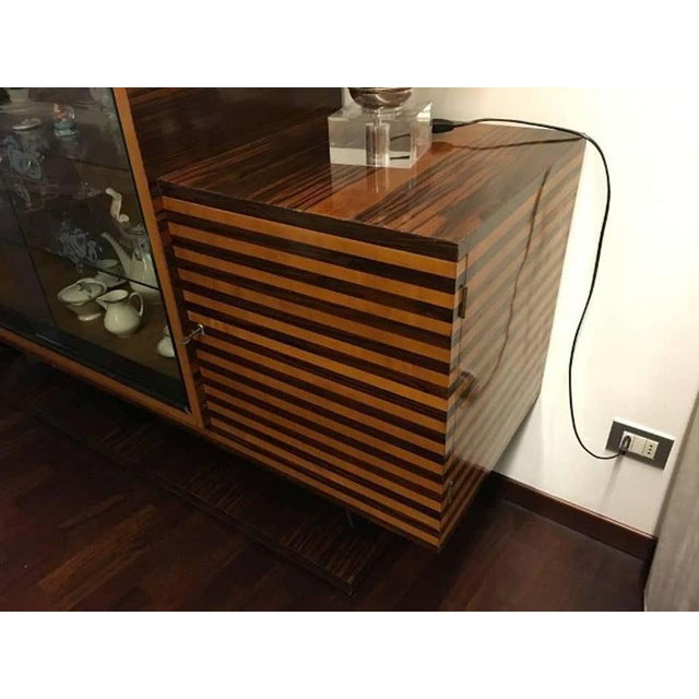 Wood 1930s Italian Art Deco Oak Rosewood and Mahogany Sideboard For Sale - Image 7 of 10