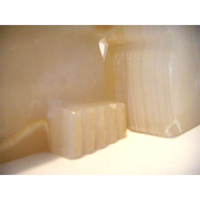 Stone Vintage Pair of Onyx Stone Bookends, Statues or Figures For Sale - Image 7 of 7