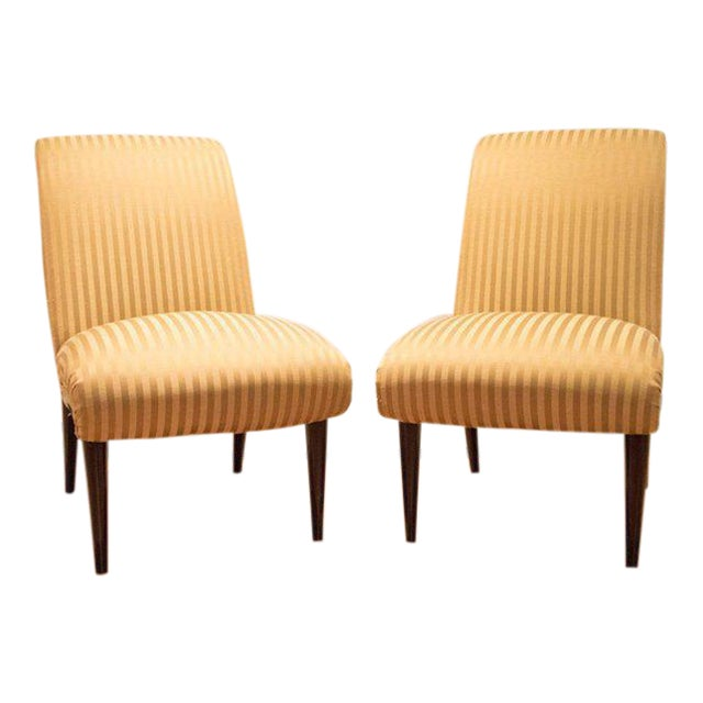 Viennese Biedermeier Style Art Deco Flare Slipper Chairs - a Pair - Image 1 of 10