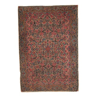 1920s Hand Made Antique Persian Kerman Rug 3.2' X 4.9' For Sale