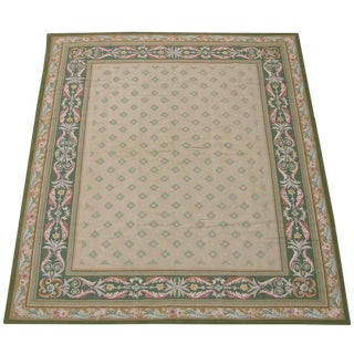 21th Century Aubusson With Silk Rug - 9′ × 12′ For Sale