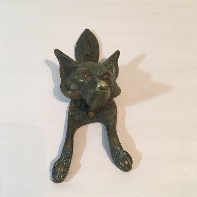 Vintage Brass Fox Door Knocker - Image 3 of 8