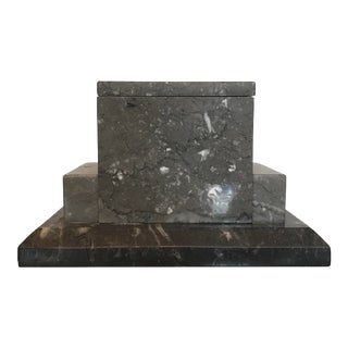 Gray Marble Box For Sale
