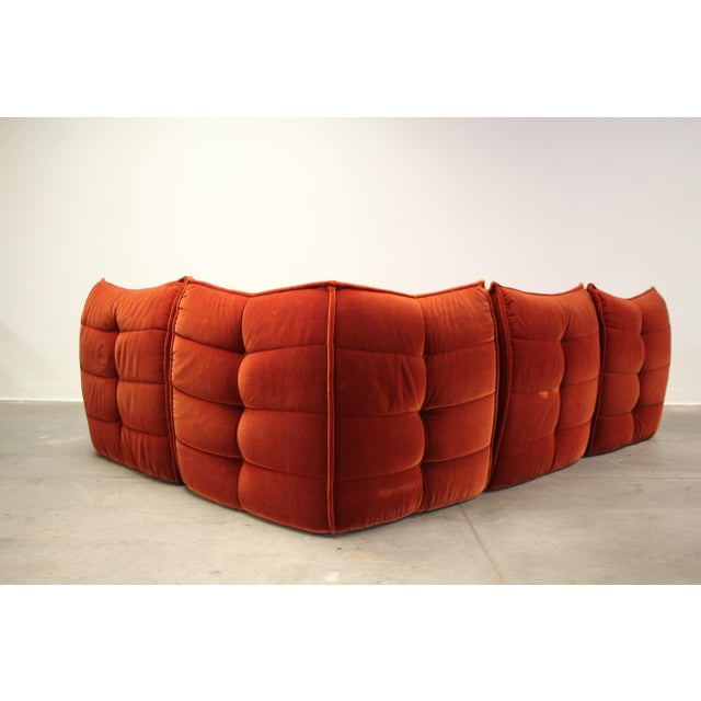 1970s French Modular Mohair Sofa For Sale - Image 12 of 13