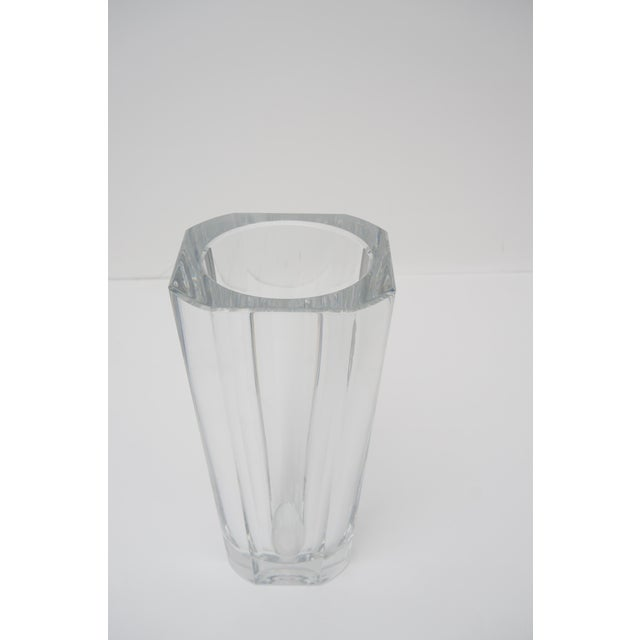 Mid-Century Modern Baccarat Crystal Vase For Sale - Image 3 of 6