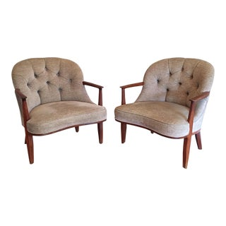 Mid-Century Edward Wormley for Dunbar Janus Chairs - a Pair