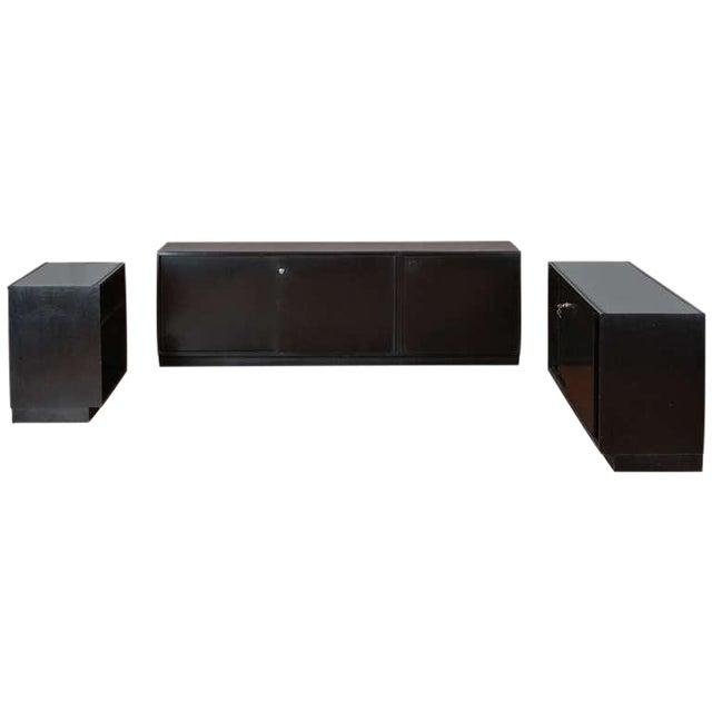 Set of Three Cupboards by Osvaldo Borsani for Tecno For Sale