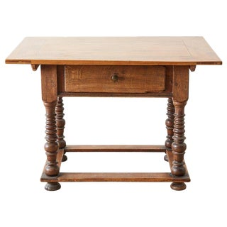18th Century Spanish Oak and Walnut Library Table For Sale
