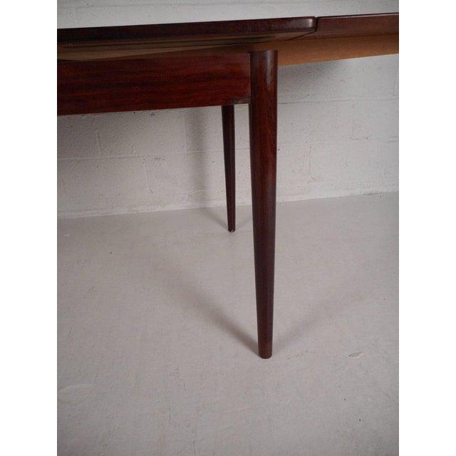Edmund Jorgensen Vintage Edmund Jorgensen Modern Rosewood Draw Leaf Dining Table For Sale - Image 4 of 9