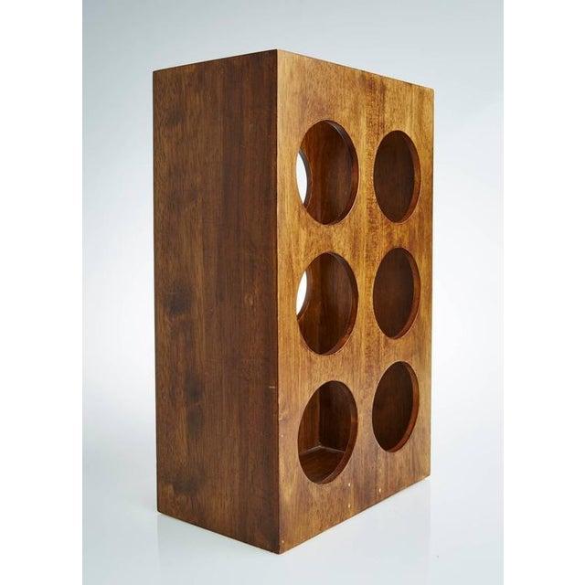 Sculptural Modern Walnut Magazine Rack - Image 4 of 6