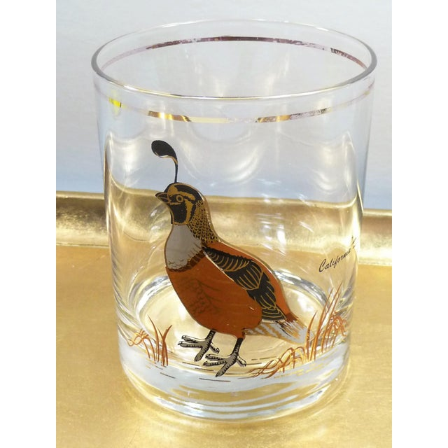 Vintage Mid Century Culver Assorted Game Bird Bar Glasses - Set of 4 - Image 8 of 9