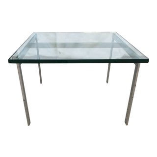Chrome and Glass Table For Sale