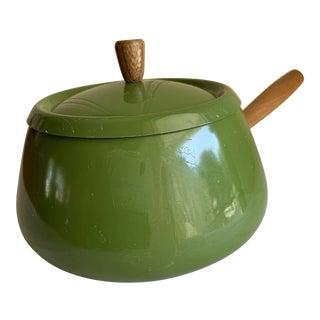 Vintage Green Fondue Pot For Sale
