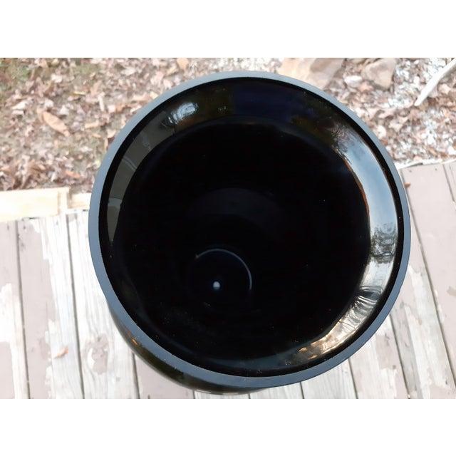 Black Vintage West Virginia Masterwork Black Pilgrim Art Glass Vase For Sale - Image 8 of 13