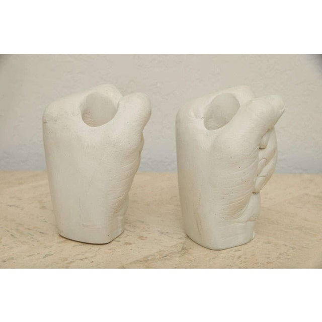 Figurative Richard Etts Plaster Candle Holders - a Pair For Sale - Image 3 of 10