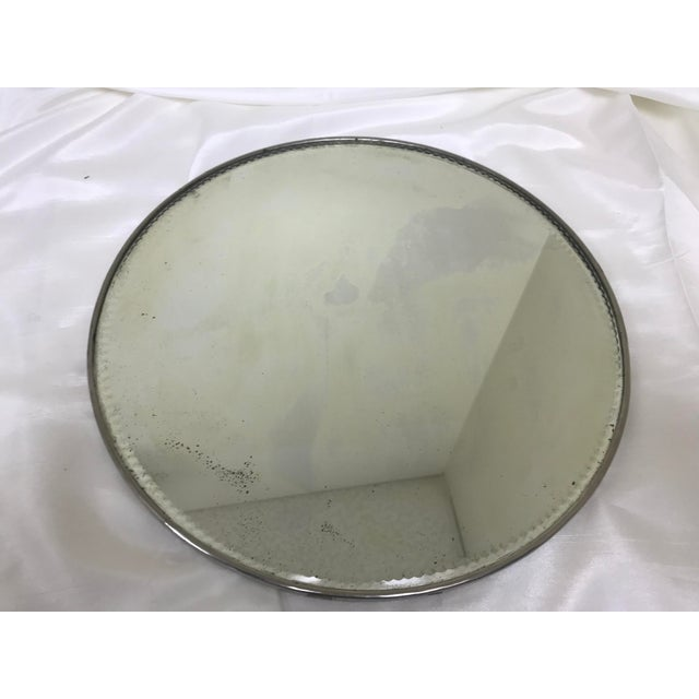 Boho Chic Antique Victorian Silverplate Plateau Stand Mirror For Sale - Image 3 of 7