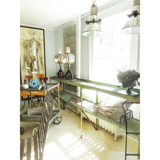 Long Narrow Industrial Mesh Console - Image 11 of 11