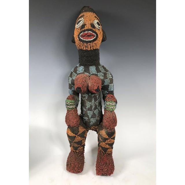 African Tribal Bamileke Beaded Statue - Image 2 of 6