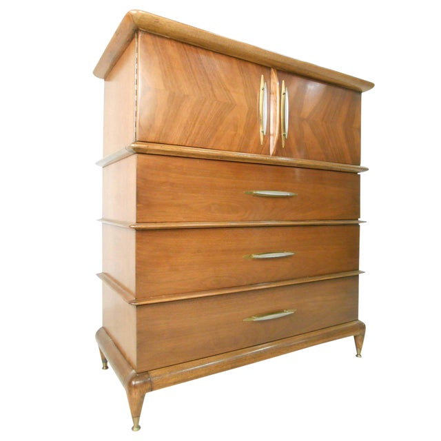 "Kent Coffey Mid-Century Modern ""The Appointment"" Highboy Dresser For Sale"