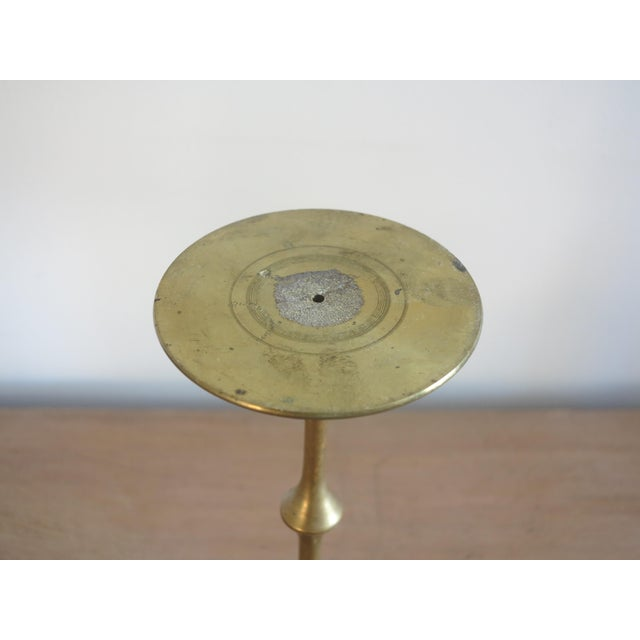 Bjorn Wiinblad Mid-Century Bjorn Wiinblad Brass Hurricane Candlestick For Sale - Image 4 of 5