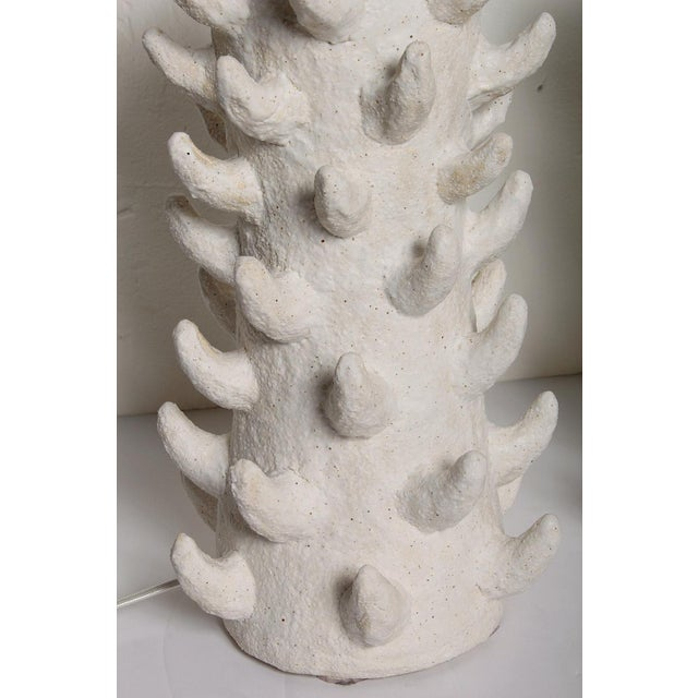 Handcrafted Salt-Glazed Stoneware Lamps by Priscilla Hollingsworth for Stripe - a Pair For Sale In Miami - Image 6 of 12
