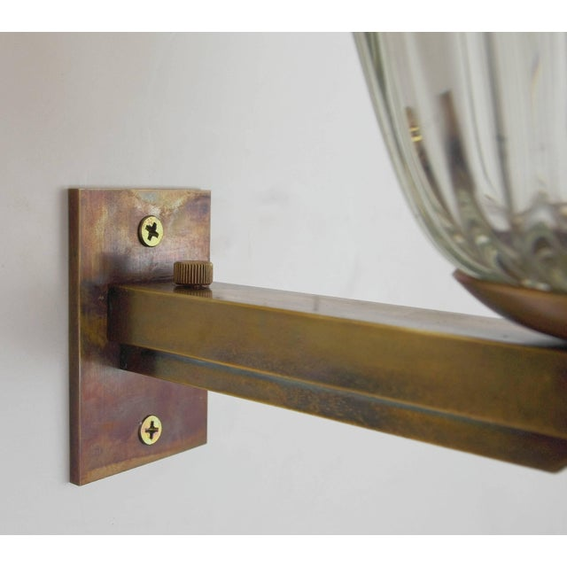 Metal Single Bell Sconce by Barovier E Toso Final Clearance Sale For Sale - Image 7 of 10