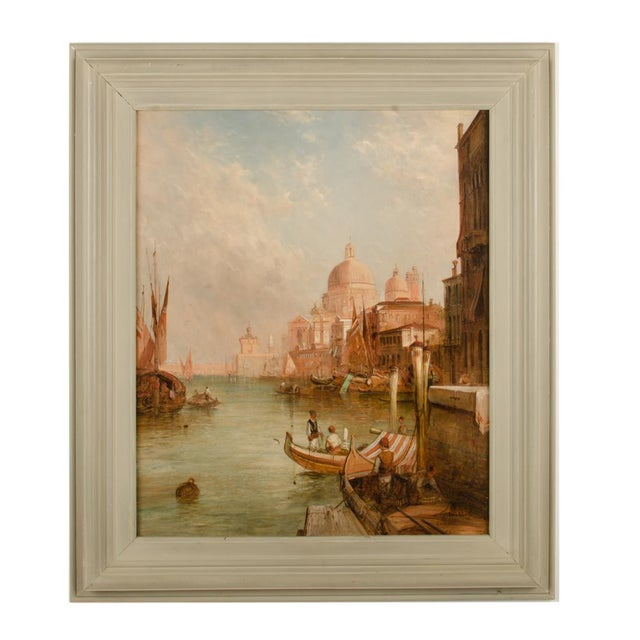 "Late 19th Century ""S. Maria Della Salute, Venice"" Oil Painting by Alfred Pollentine, Framed For Sale - Image 12 of 12"