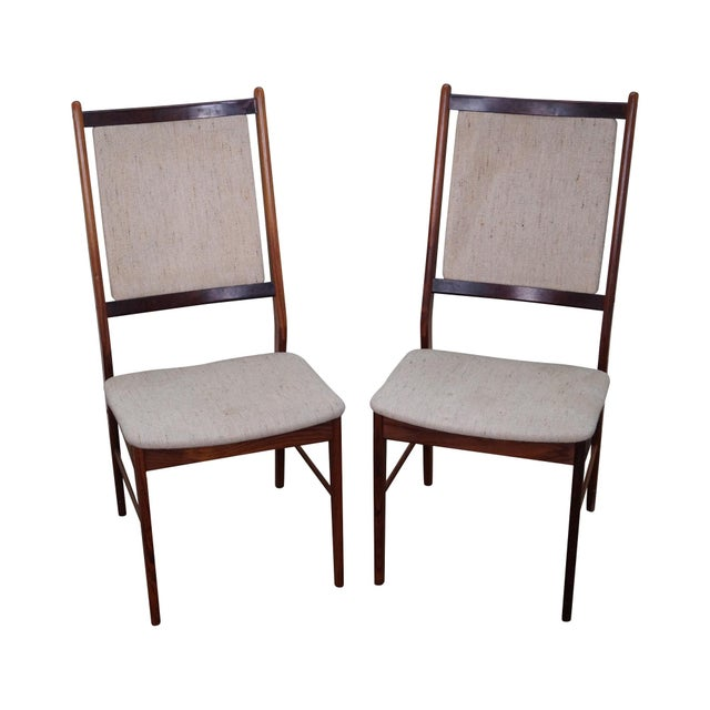 Danish Modern Rosewood Side Chairs - A Pair - Image 1 of 10