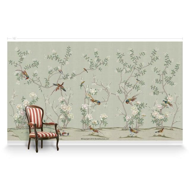 Asian Casa Cosima Henri Green Mural - Sample For Sale - Image 3 of 7