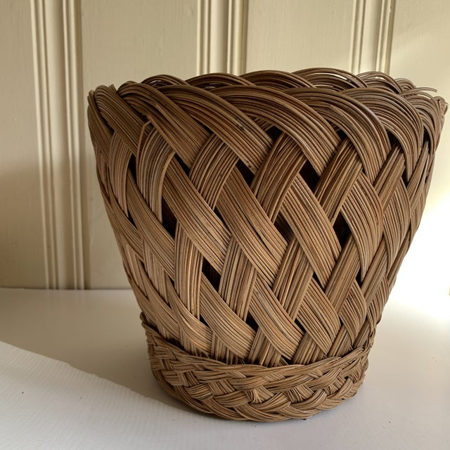 Wood Earthy Classic Basket Vessels, Set of Three For Sale - Image 7 of 13
