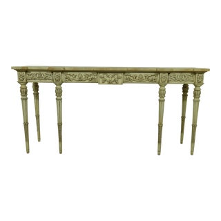 Karges French Louis XVI Paint Decorated Console Table For Sale