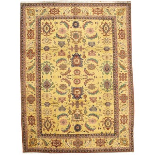 """Pasargad N Y Sultanabad Design Hand-Knotted Rug - 9'0"""" X 12'1"""" For Sale"""