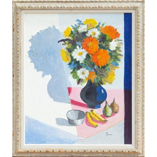 "José Luis Figueroa, ""Still Life With Flowers"", Oil on Canvas For Sale"