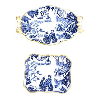 "Royal Crown Derby ""Mikado"" Small Dishes - a Pair For Sale"
