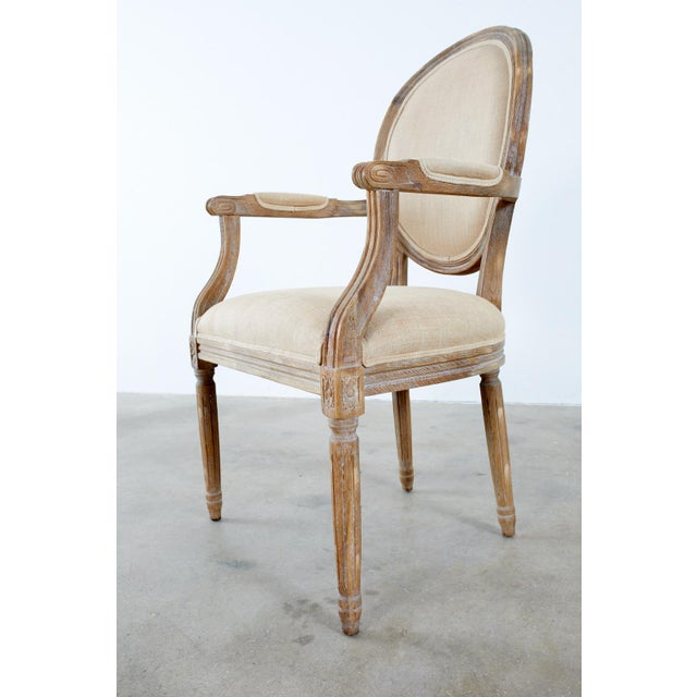 Late 20th Century French Louis XVI Style Oak Dining Chairs - Set of 10 For Sale - Image 5 of 13