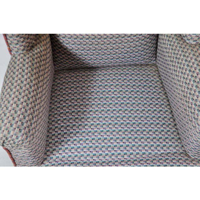 Vintage French Kids Wing Chair Newly Upholstered For Sale - Image 10 of 13