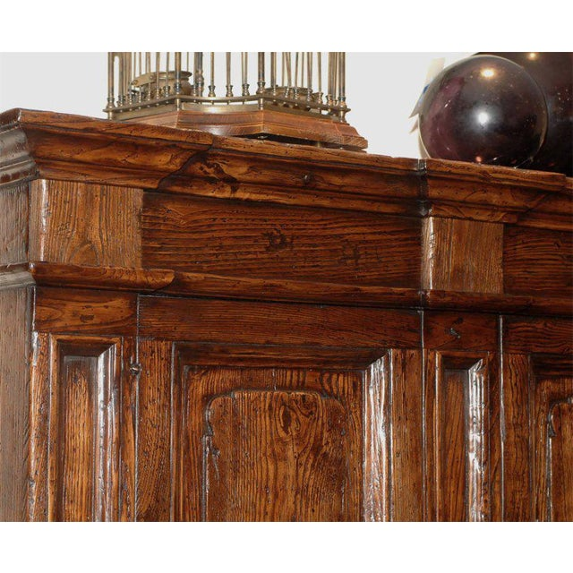 Mid 20th Century Vintage Italian Elm Baroque Style Cabinet For Sale - Image 5 of 7