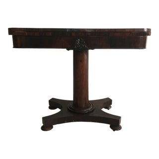 Empire Victorian Rosewood Card Table For Sale