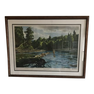 June Trout Fishing by Ogden Pleissner For Sale