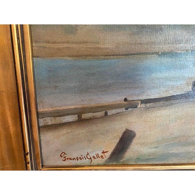 Impressionist Vintage Signed Oil on Canvas Framed Painting For Sale - Image 3 of 13