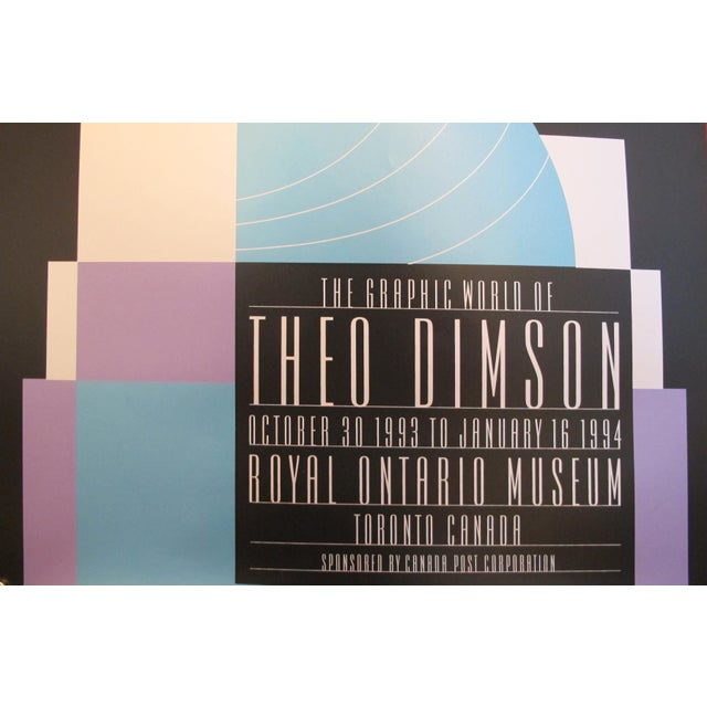 Mid-Century Modern 1980s Original Canadian Poster - the Graphic World of Theo Dimson by Theo Dimson For Sale - Image 3 of 4